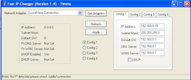 تحميل برنامج تغيير الاي بي للكمبيوتر Download Ip Changer