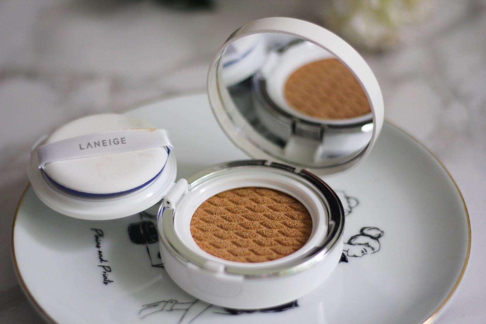 Laneige Bb Cushion Pore Control Review Shade Sand 23 New Maria Hazel