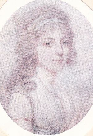 Portrait de la cantatrice Nancy Storace : miniature de Grimaldi