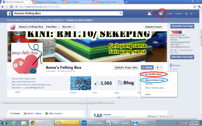 Tutorial : Update Page FB tak Muncul kat Newsfeed?