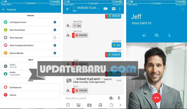 dpwnload BBM MOD Versi 3.0.0.18 Terbaru Tema Official Full Fitur