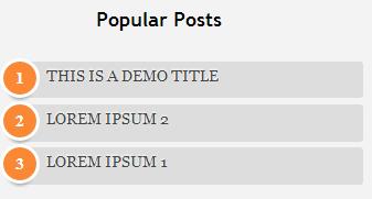Popular post widget style 1