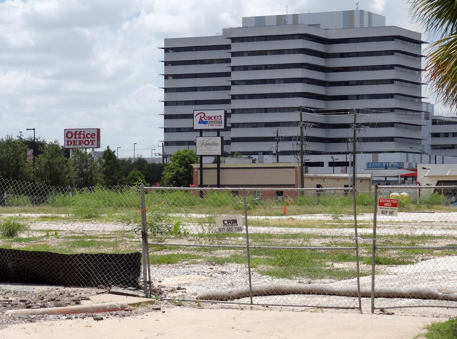 Houston Streetwise Kirby At W Main Re Development Site In July
