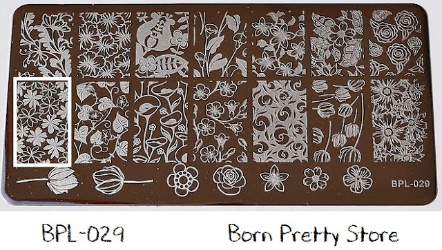 Plate Plaquinha BPL-029 Born Pretty Store Nail Art