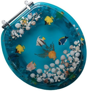 bathroom decor tropical fish and seashell toilet seat