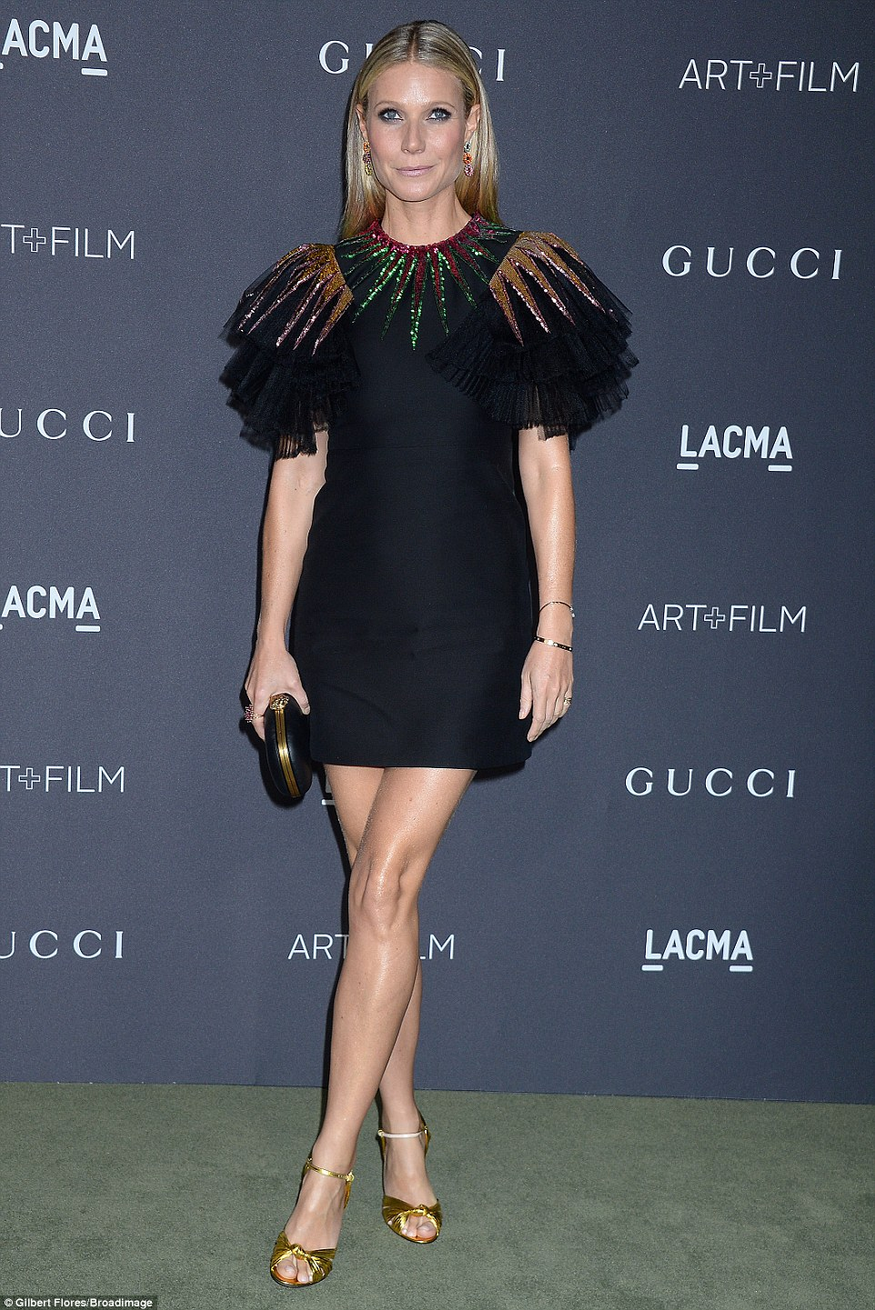 Gwyneth Paltrow puts legs on show at the LACMA Art + Film Gala in LA