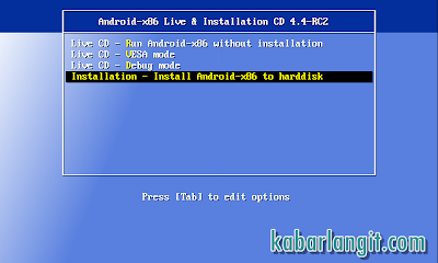 Cara Lengkap Install Android 4.4.2 KitKat x86 di Harddisk PC-Laptop