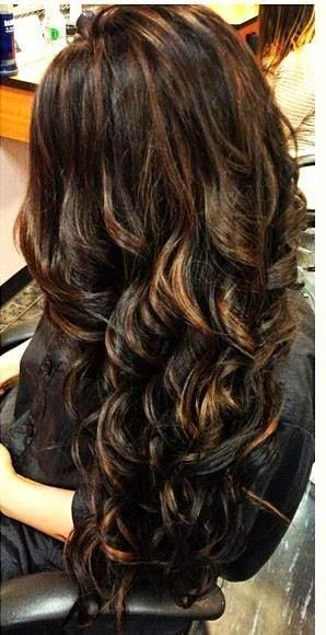 12 Flattering Dark Brown Hair With Caramel Highlights