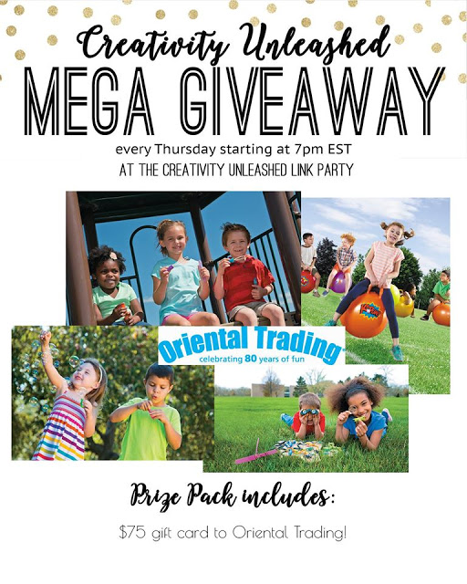 Oriental Trading giveaway and Creativity unleashed link party at MyLove2Create.