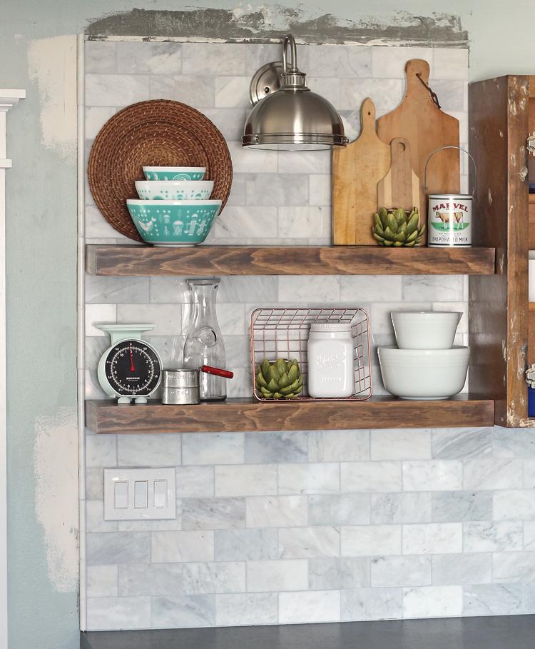 The Craft Patch DIY Marble Subway Tile Backsplash Tips