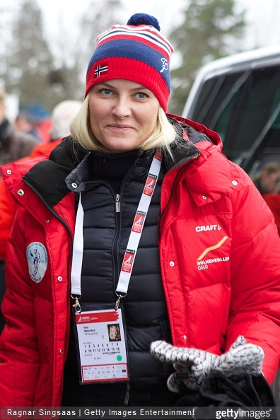 Crown Princess Mette-Marit of Norway attends the World Ski Championships