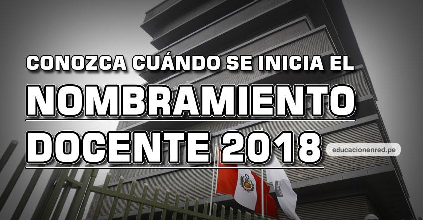MINEDU: Sepa cuándo se inicia el Nombramiento Docente 2018 aprobado por el Congreso de la República - www.minedu.gob.pe