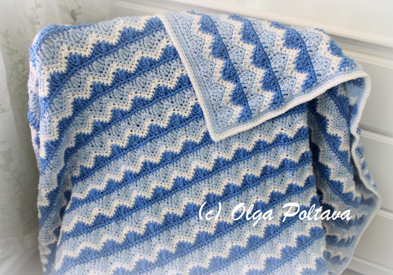 Lacy Crochet: Ocean Waves Afghan, My New Crochet Pattern