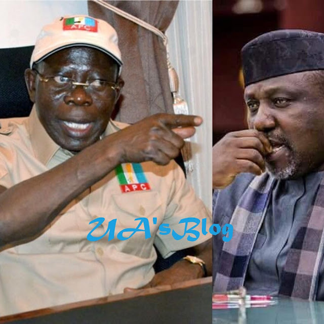 2019: Buhari Has Adopted Uzodinma, Says Oshiomhole As He 'Disgraces' Okorocha In Imo