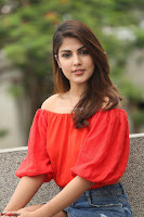 Rhea Chakraborty in Red Crop Top and Denim Shorts Spicy Pics ~  Exclusive 283.JPG