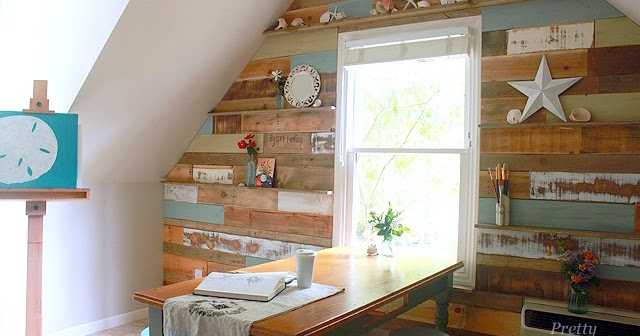 I Love That Junk: Pallet wood feature wall - Pretty Handy Girl