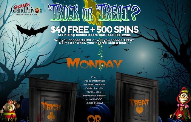 Lucky Creek Casino October TRICK or TREAT Promo