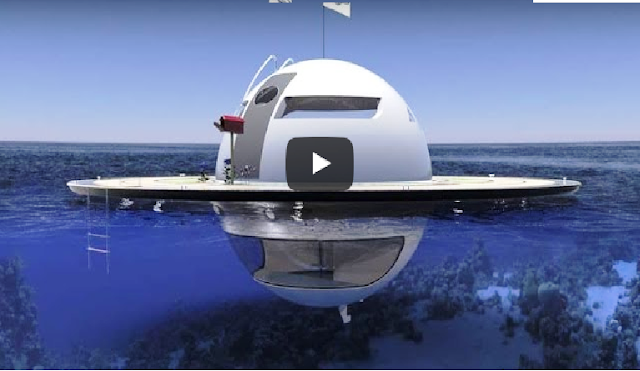 This floating UFO house lets you live off-grid on the Sea Video