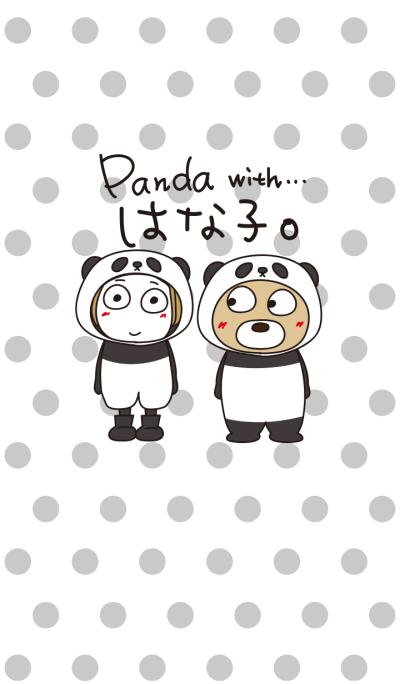Bangs short girl' with Panda