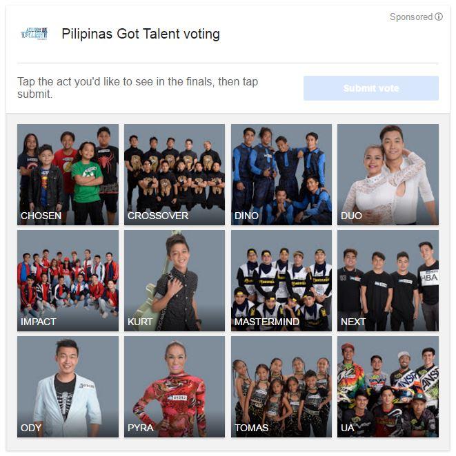 PGT 5 voting