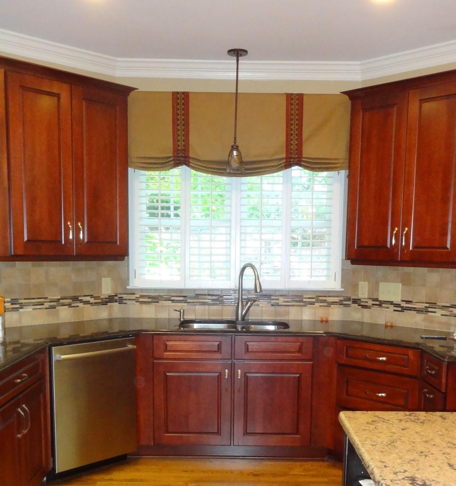 Kitchen Window Valances Refinish Cabinets Cost Greensboro Interior Design Treatments