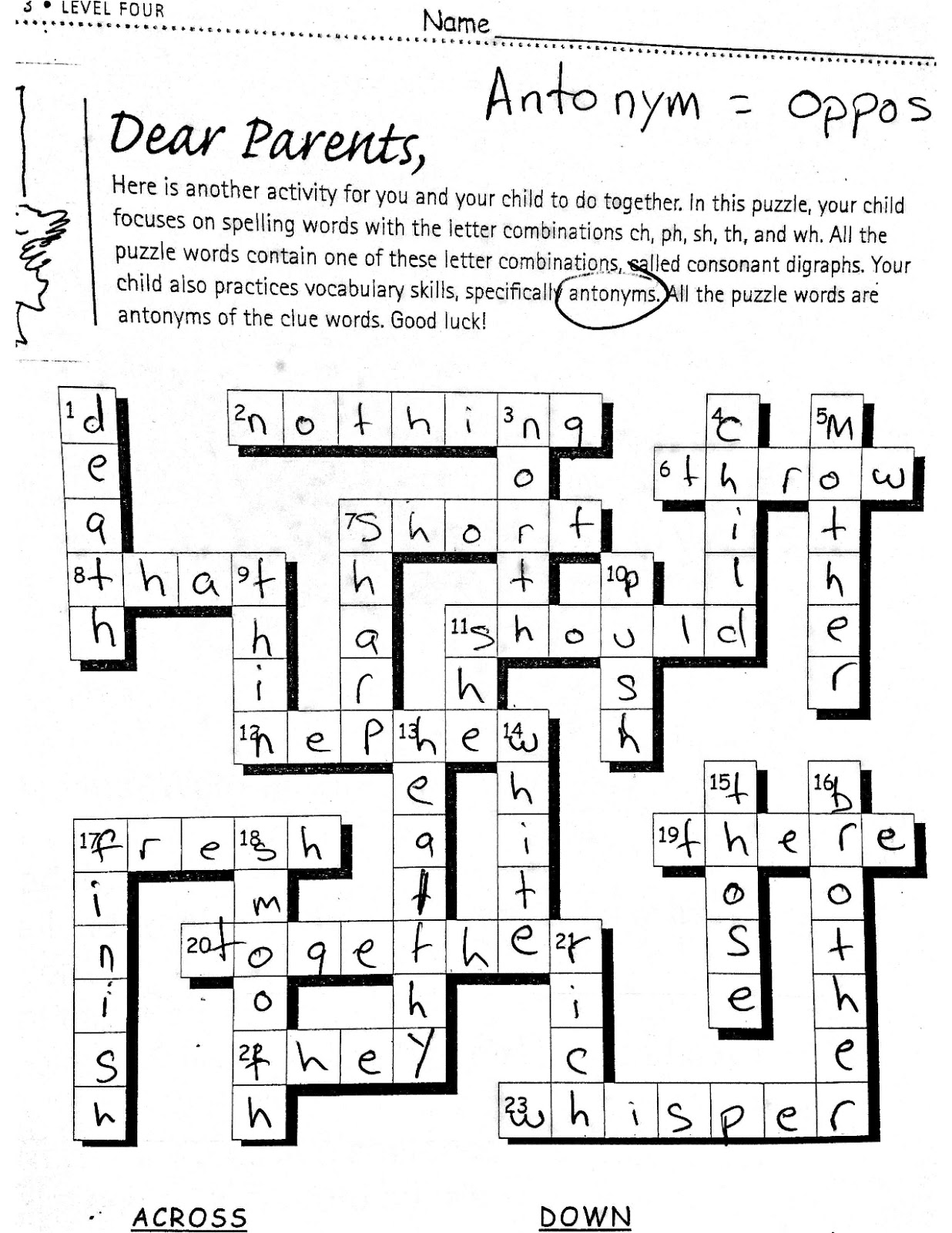 Students Complete A Crossword Puzzle And Fill Out The States Of Matter Images