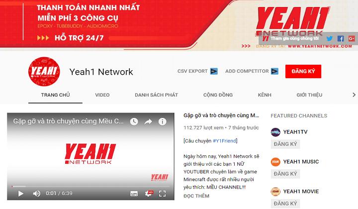 Từ ngày 31/3, YouTube sẽ ngừng hợp tác với Yeah1 Network.