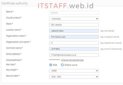 Update Default CA Sophos XG - ITSTAFF.web.id