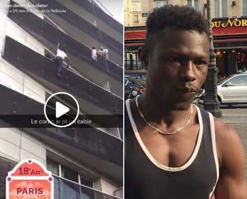 Immigrante clandestino diventa eroe a Parigi salvando un bambino appeso ad un balcone