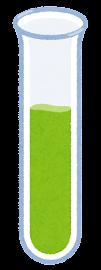 液体が入った試験管のイラスト(緑)