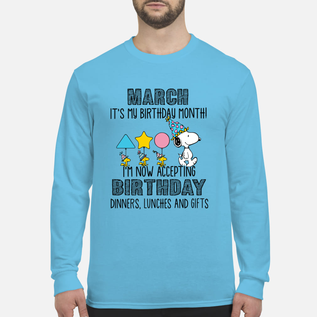 d9574af49 Staff claimed that as well as engaging them in unwelcome embraces, the  Snoopy March it's my birthday month I'm now accepting birthday dinners  lunches and ...
