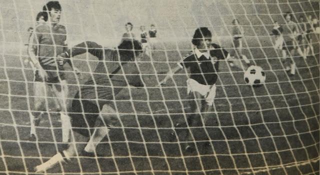 Chile y Escocia en partido amistoso, 15 de junio de 1977