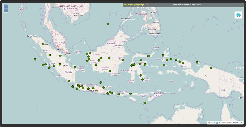 peta penyebaran fauna di indonesia