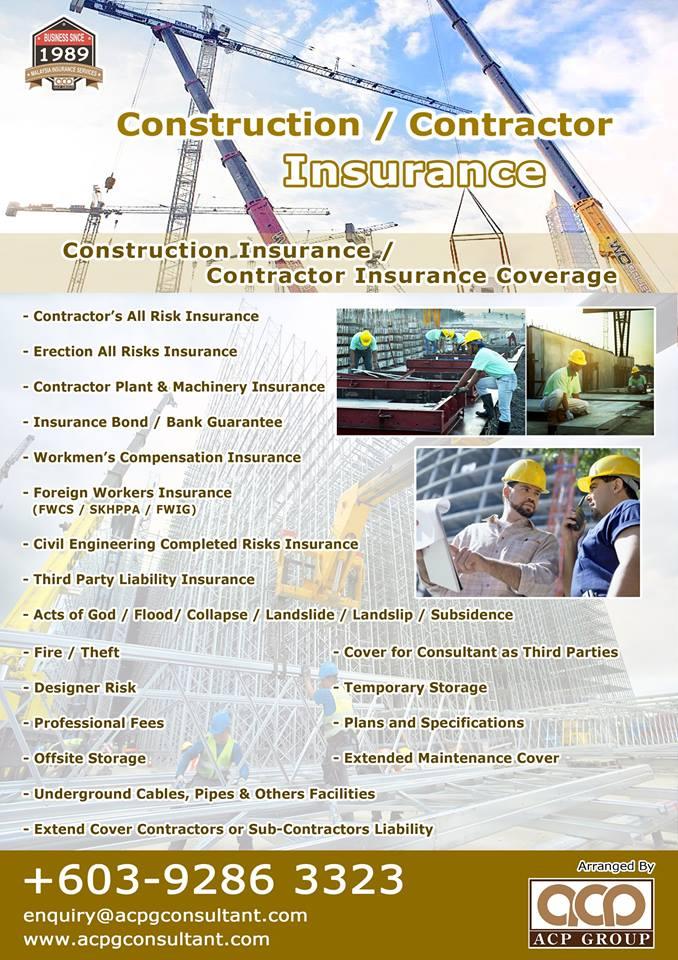 Malaysia Business Insurance : Construction Insurance Malaysia. Contractor All Risk Insurance Malaysia. Erection All Risk Insurance Malaysia ...