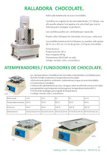 Ralladora Chocolates y Atemperadores fundidores chocolate