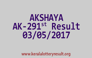 AKSHAYA Lottery AK 291 Results 3-5-2017
