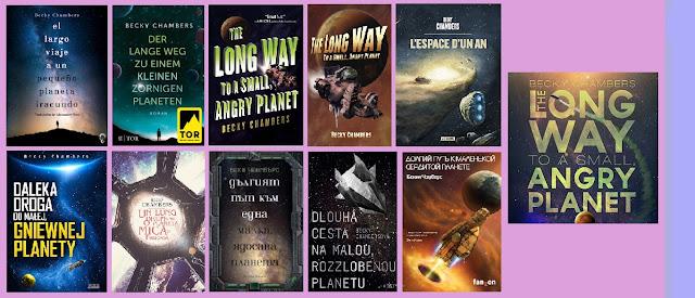 portadas del libro de ciencia ficción El largo viaje a un pequeño planeta iracundo, de Becky Chambers