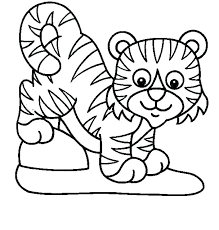 Baby Tiger At Zoo Coloring Pages Ideas For Print