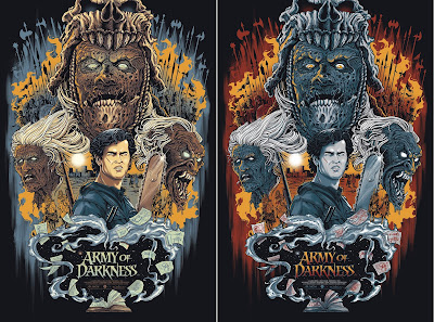 New York Comic Con 2016 Exclusive Army of Darkness Movie Poster Screen Print by Gary Pullin x Grey Matter Art - Regular & Variant Editions