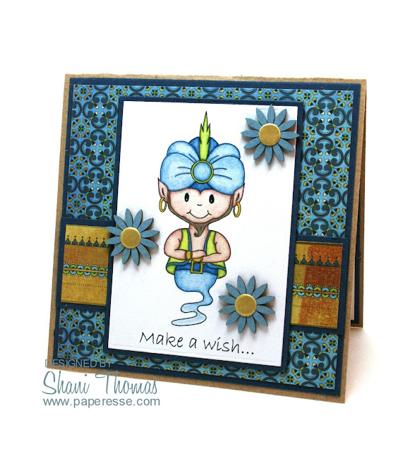 Masculine birthday card featuring Digital Delights Genie Scottie digital stamp, by Paperesse.