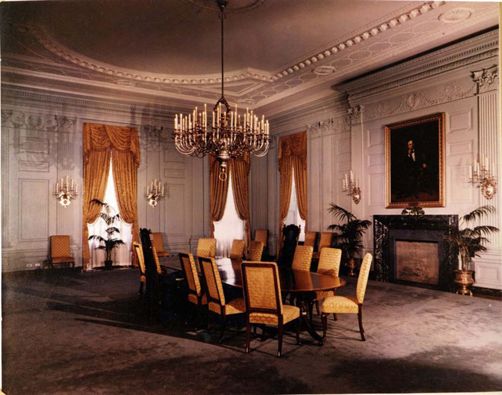 White House State Dining Room. 1952.