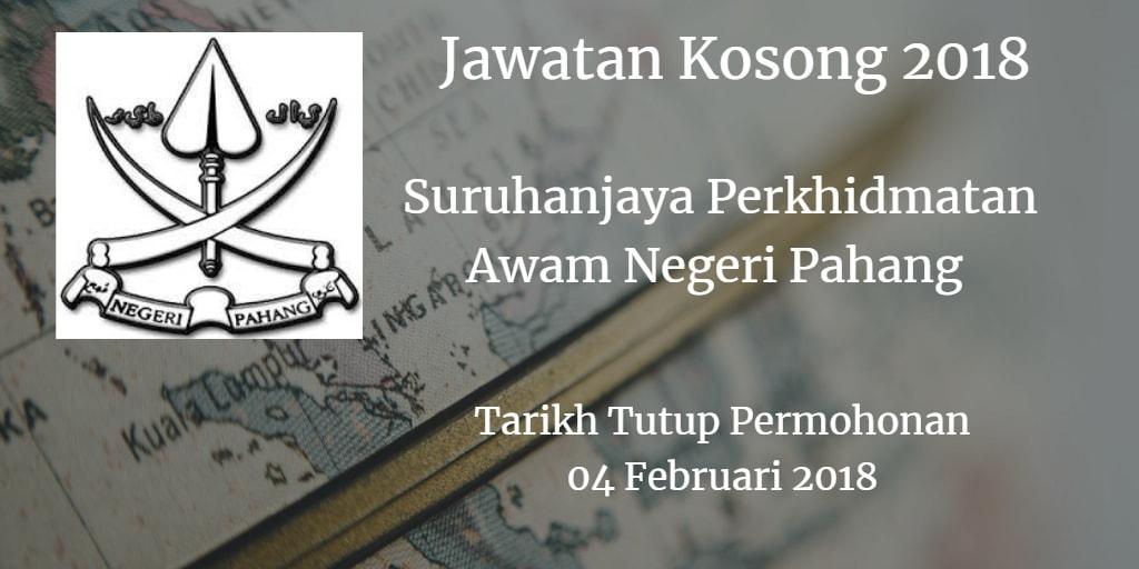 Jawatan Kosong SPA Pahang 04 Februari 2018