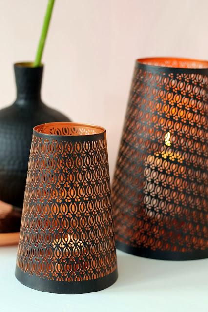 copper kynttilälyhty