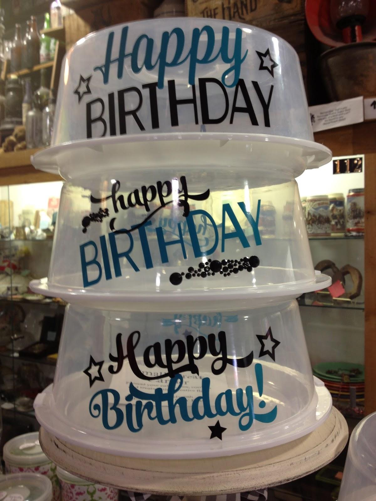Cake Carrier Vinyl Designs Diy