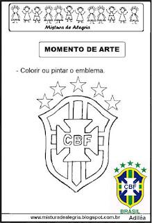 Emblema da seleção brasileira copa mundial