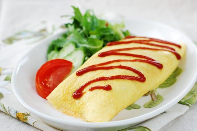 Resep Omelet Nasi Telur Lezat ala Omurice Jepang
