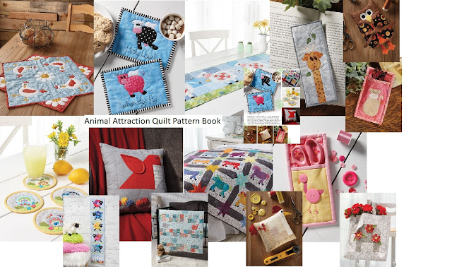 14 Patterns for Animals in the Animal Attraction Quilt Pattern Book