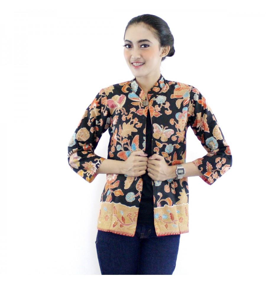 Model Batik Kerja Remaja Modern: 15 Bolero Batik Modern Terbaru Bulan Ini Terpopuler
