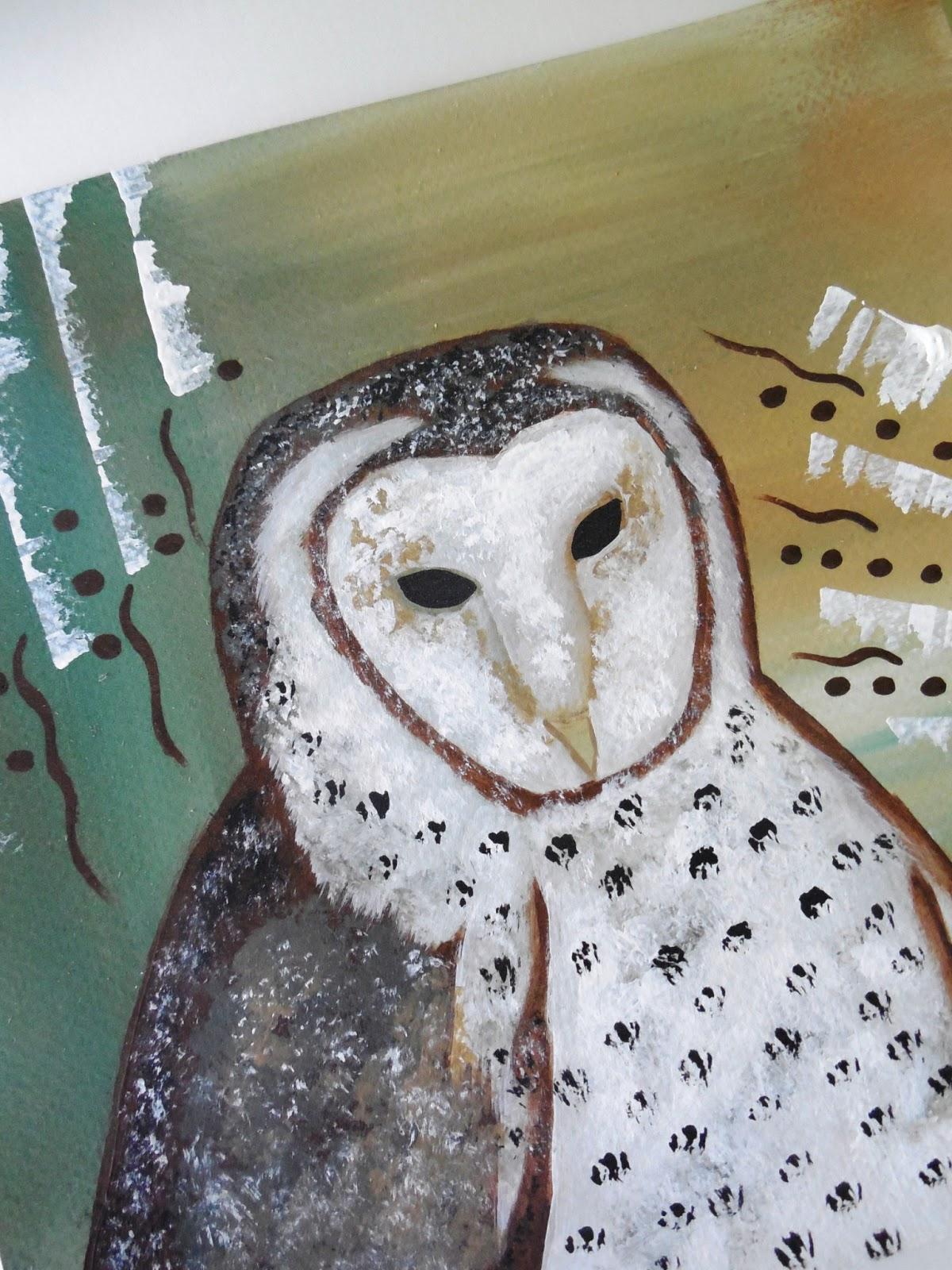 Conscious Art Studios: Barn Owl Totem Symbolism