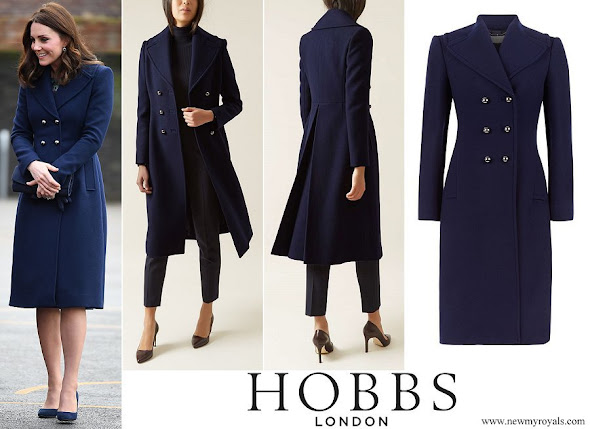 Kate Middleton wore HOBBS London Gianna coat